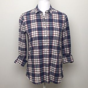 ✅ Final Price Drop J. Crew Plaid Popover Shirt, used for sale